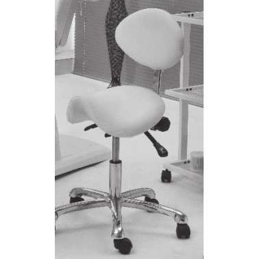 Taburete con respaldo Beauty stool with backrest - 1025