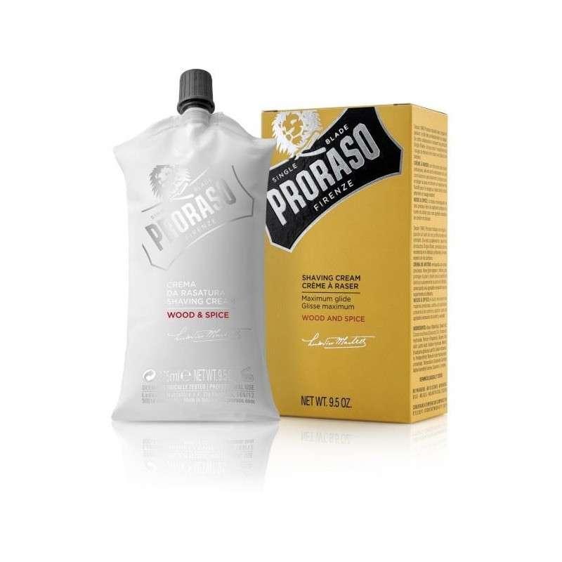 CREMA DE AFEITAR WOOD AND SPICE PRORASO DE 275 ml.