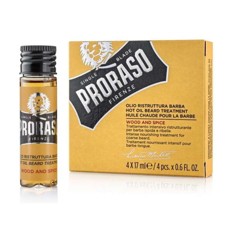 ACEITE CALIENTE PARA BARBA PRORASO (4 FRASCOS X 17 ml.)