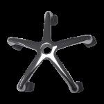 Base estrella cromada con ruedas