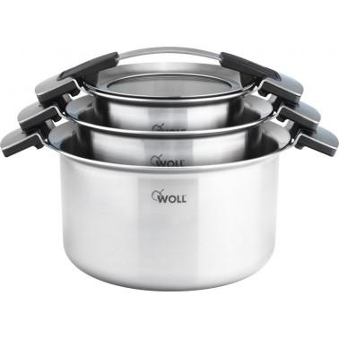 Set de 3 ollas concept pro WOLL