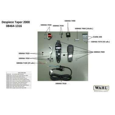 Despiece Wahl Taper 2000