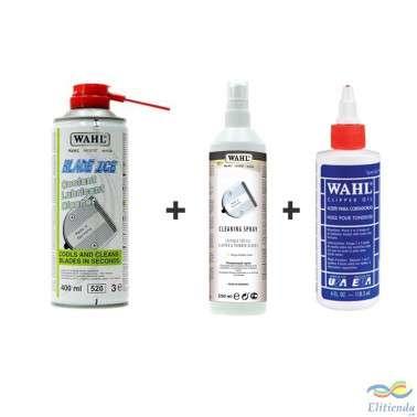 Pack Lubricante, refrigerante, desinfectante y bactericida Wahl