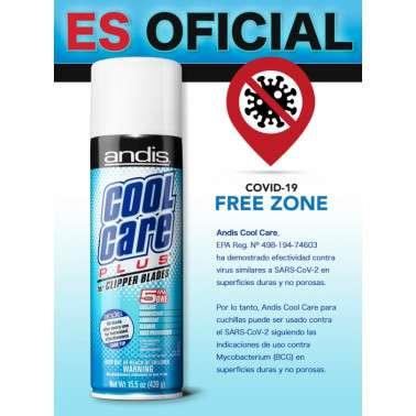 Andis Cool Care Plus desinfeccion covid coronavirus