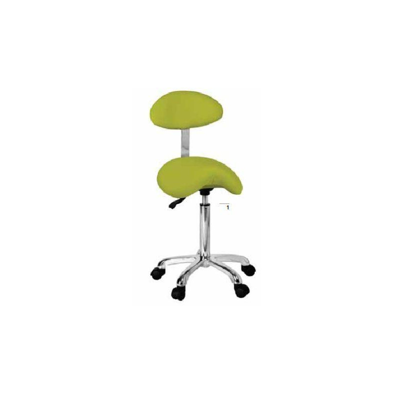 Taburete con respaldo Beauty stool with backrest - 1022AB2